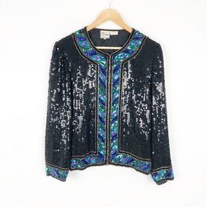 Stenay Vintage Sequin Jacket Holiday Party c20
